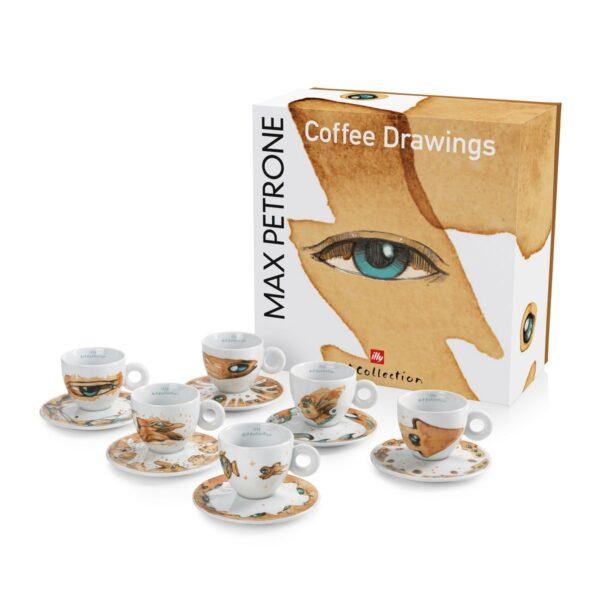 illy® Колекция Max Petrone - Сет от 6 чаши за еспресо - Б.В.ЛИНК - Онлайн магазин за продукти на illy за България - Основна снимка 1