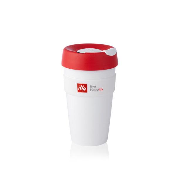 illy® Live HAPPilly KeepCup - Чаша за из път в бяло, 454 мл - Б.В.ЛИНК - Онлайн магазин на illy за България