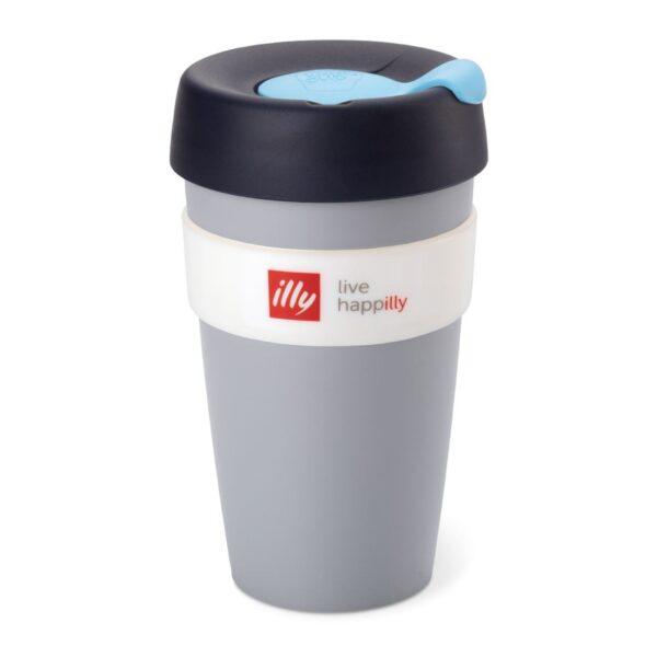 illy® Live HAPPilly KeepCup - Чаша за из път в сиво, 454 мл - Б.В.ЛИНК - Онлайн магазин на illy за България