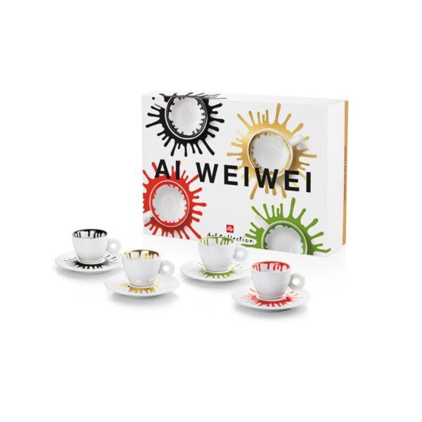 Комплект от 4 чаши еспресо от колекцията Illy Ai Weiwei
